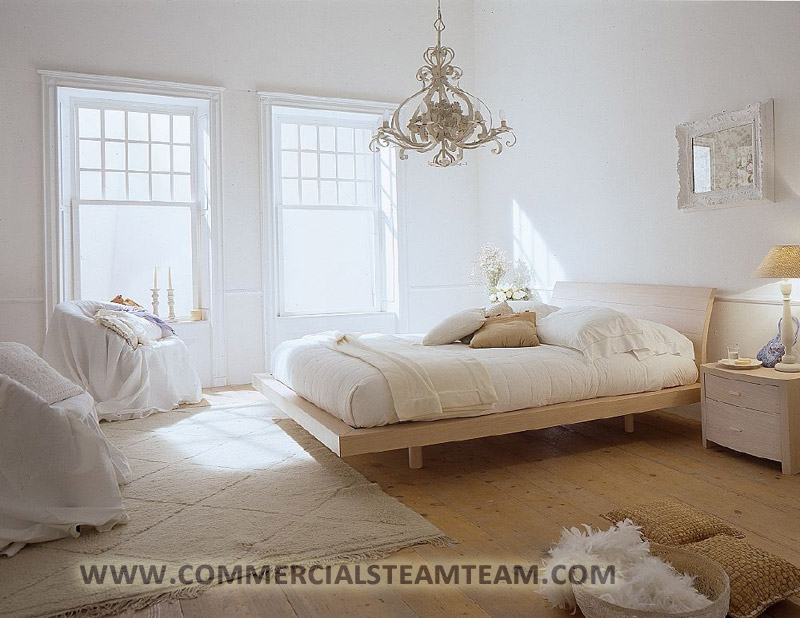 white-bedroom carpet cleaning | Commercial Steam Team